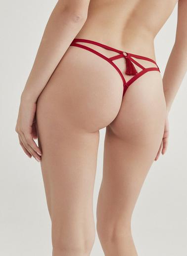 Penti Tango Kırmızı Tassel String Külot Kırmızı